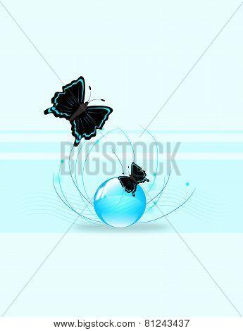 Butterflies Background Template