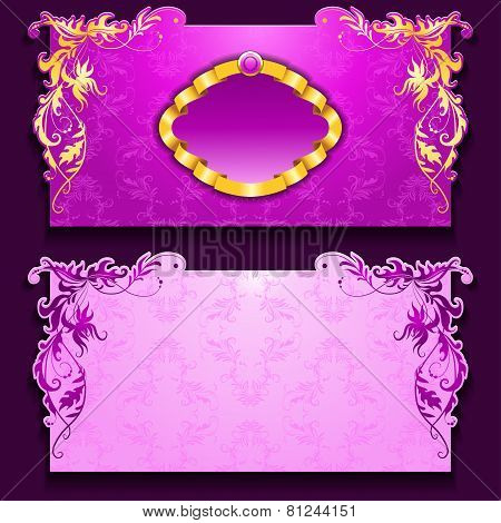 Vector invitation card with frame