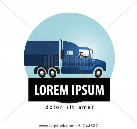 delivery vector logo design template. truck or trucking icon.