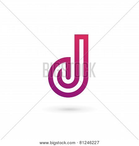 Letter D Logo Icon Design Template Elements