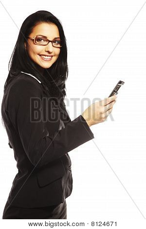 Beautiful Young Woman Calling By Mobile