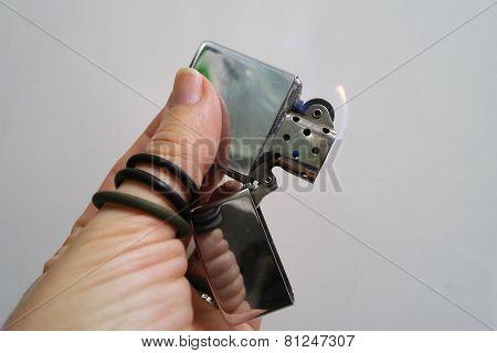 Lighter in my hand
