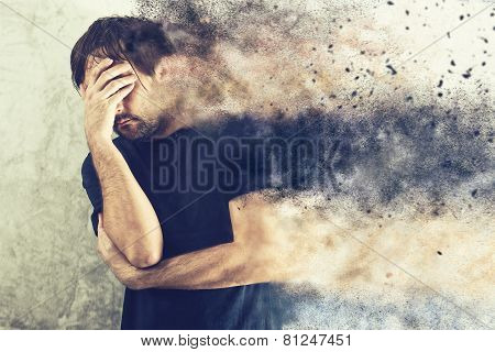 Depressed Man Portrait