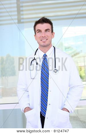 Handsome Doctor At Hospital