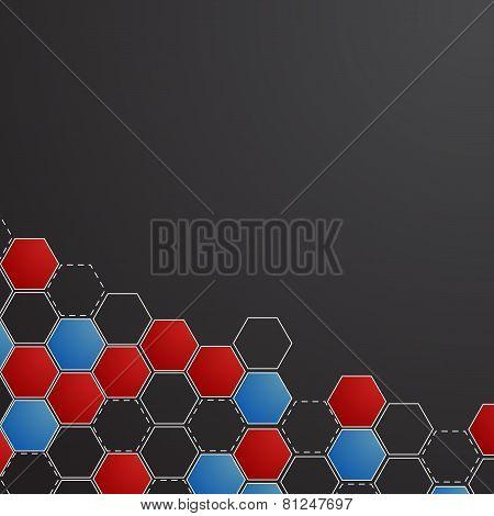 Corporate honeycomb background