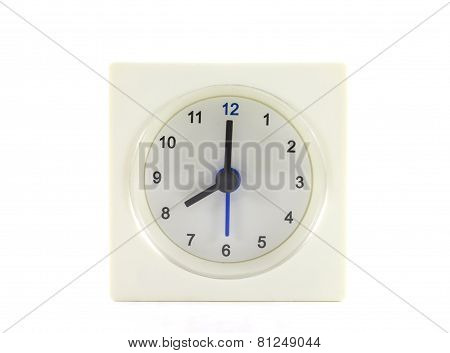 The Clock Isolated On White Background 8 O'clock