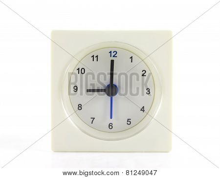 The Clock Isolated On White Background 9 O'clock