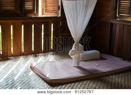The Style Of Thailand Mosquito Net And Mattress