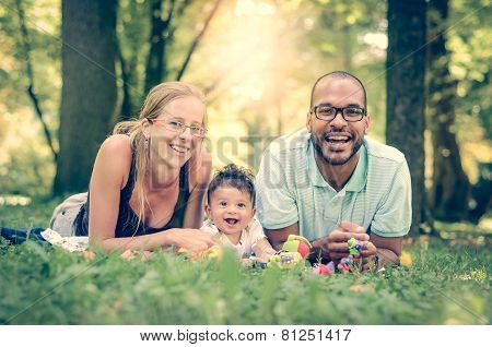Happy Family Interracial