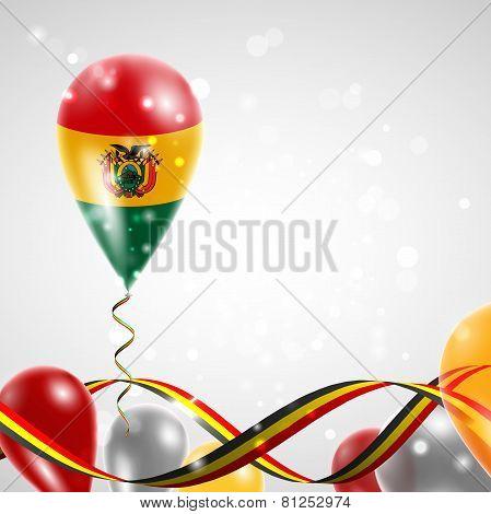 Flag of Bolivia on balloon