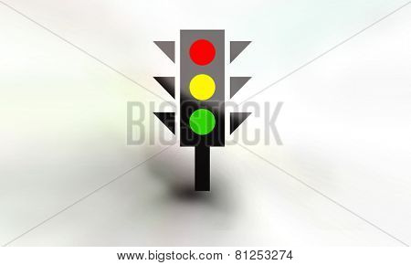 Traffic light with sketch background