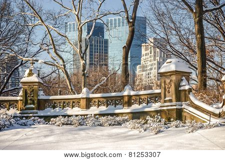 Buildings And Snow