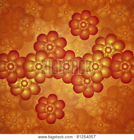 Colorful Modern Floral Motif Design