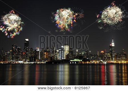 Midtown Manhattan Fireworks