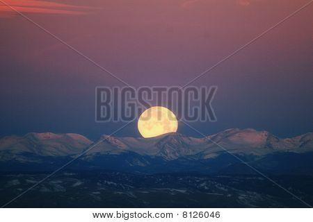 2010 Wolf Moon Over Colorado Rockies