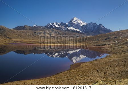Lake With Reflection Of Huayna Potosi