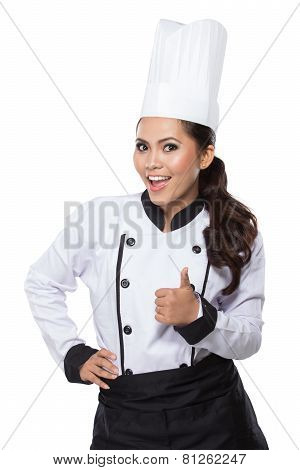 Chef Woman - Happy Thumbs Up
