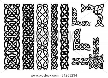 Celtic patterns and celtic ornament corners