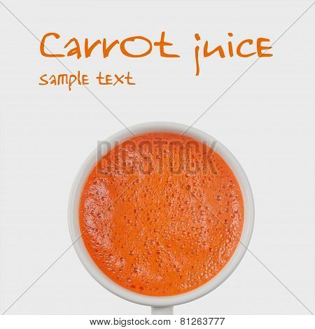 Carrot Juice (isolated, With Easy Removable Sample Text)