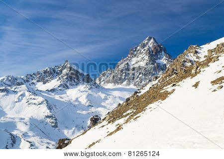 Majestic Mountain Peak In The Alps