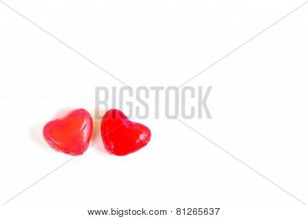 Red Heart Shape Deletable Imitation Fruits