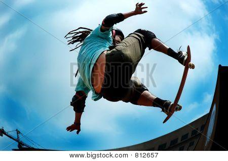 Pro skateboarder