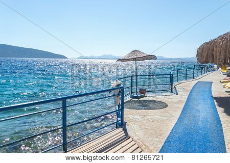 Beach on Turkish resort