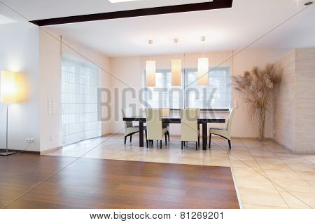 Dining Area Inside Spacious House