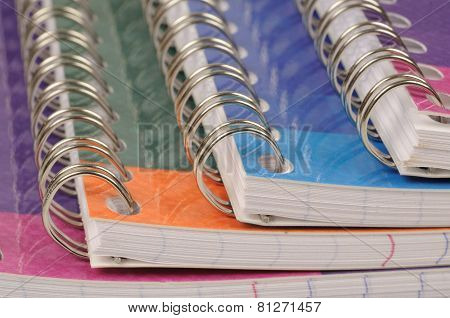 Close Up Of Spiral Bound Exercise Book