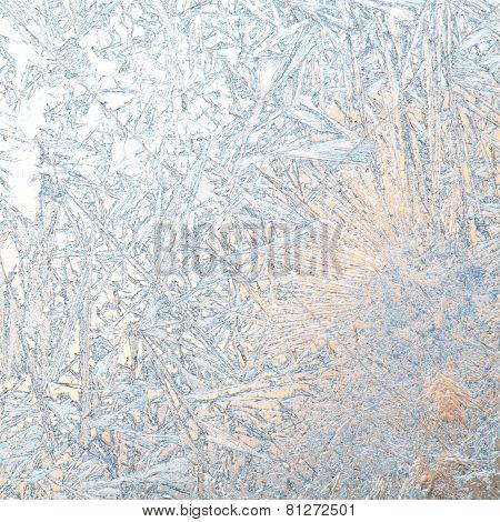 Frozen Window. Macro.