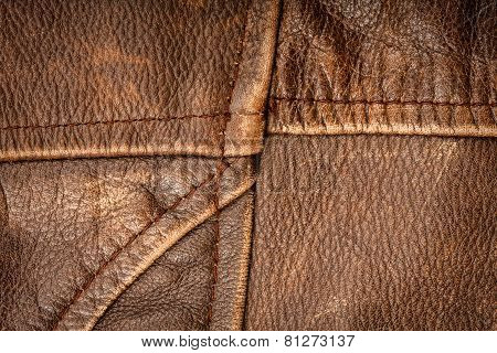 Seams On Leather Product