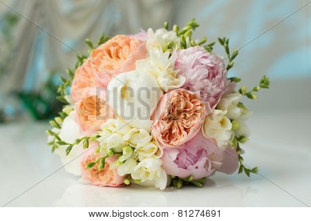 Bride's Bouquet on Table