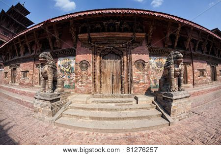 Temple On Durbar Square In Patan