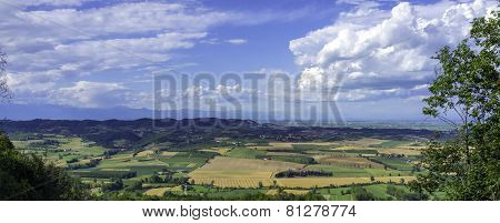 Monferrato summer panorama. Color image