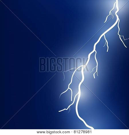 Vector illustration of sparkling lightning bolt