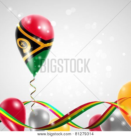 Flag of Vanuatu on balloon
