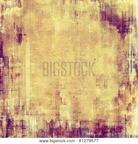 Abstract old background with rough grunge texture. With different color patterns: yellow (beige); brown; purple (violet)
