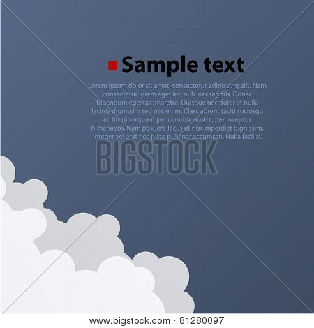 Cloud background in different focus.