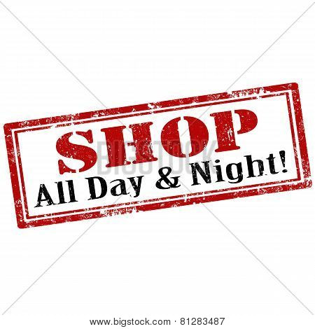Shop -all Day & Night-stamp