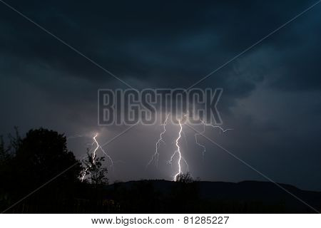 Two lightning strikes
