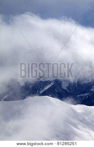 Off-piste Slope At Mist
