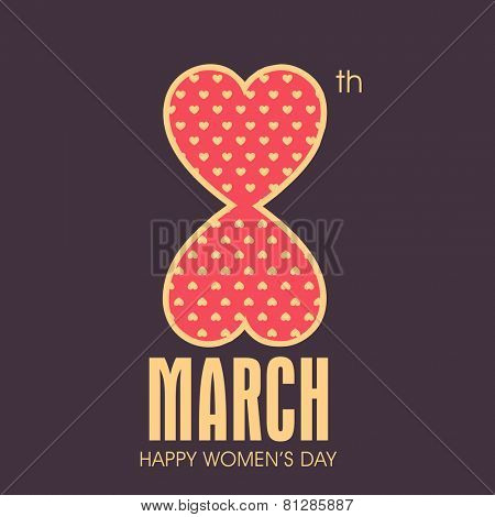 Greeting card design for International Women's Day celebrations.