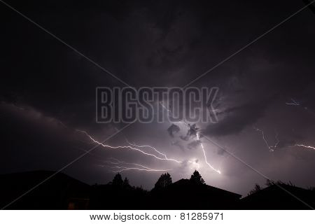 Urban Lightning on the roof tops