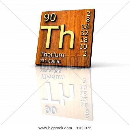 Thorium Form Periodic Table Of Elements - Wood Board