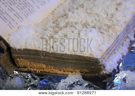Frozen old book