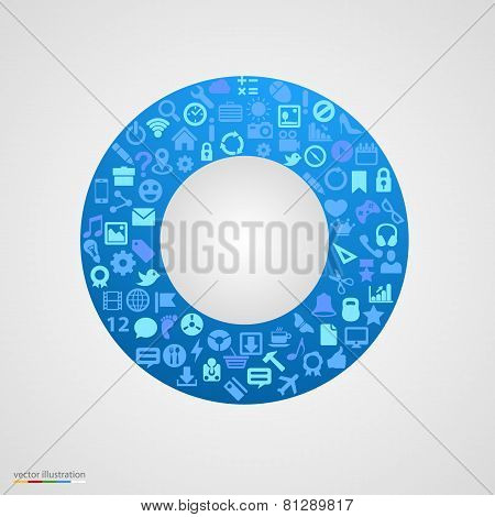 Circle of app icons.