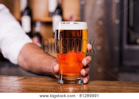 Quench Your Thirst With Glass Of Cold Beer!