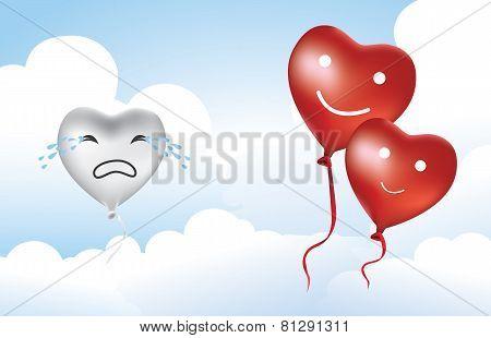 Heart Balloon Broken heart