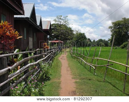 Rural Architectural Scenery In Laos