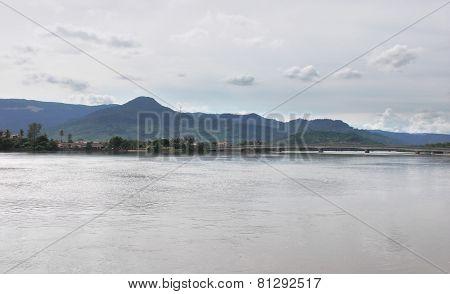 Waterside Scenery In Kampot